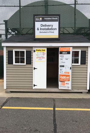 Sheds USA 8x12 Vinyl Classic Shed Display for sale at Home Depot Freeport NY for Sale in Baldwin, NY