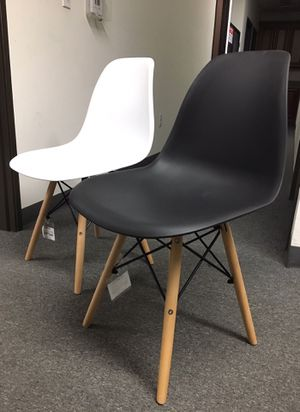 New in box $25 each Mid Century Modern Eames Style dining leisure DSW chair White or black color for Sale in Whittier, CA