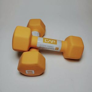 NEW CAP 8 LB Hex Neoprene Dumbbells Hand Weights Pair Set 16LBS for Sale in Los Angeles, CA