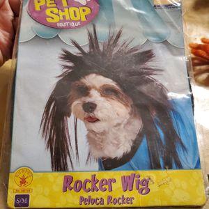 Rocker wig. S/M puppy costume for Sale in Dallas, TX