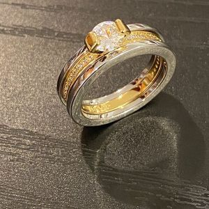 18K Gold plated Engagement/ Wedding Ring - Code / Double for Sale in San Jose, CA
