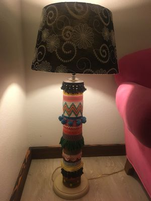Fun vintage lamp and shade for Sale in Austin, TX