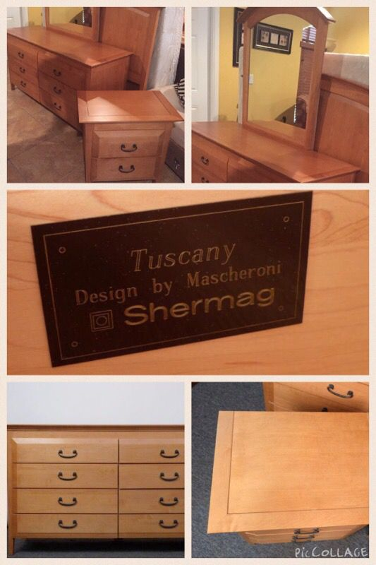 Queen Size Bedroom Set Mascheroni Shermag Tuscany For
