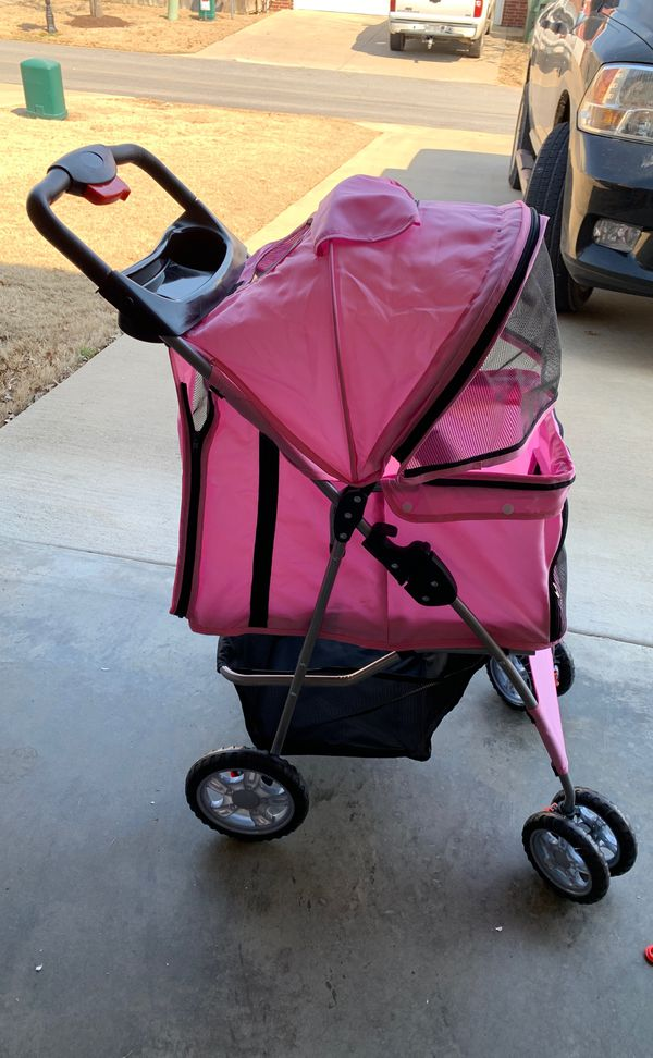 Small pink dog stroller NEW