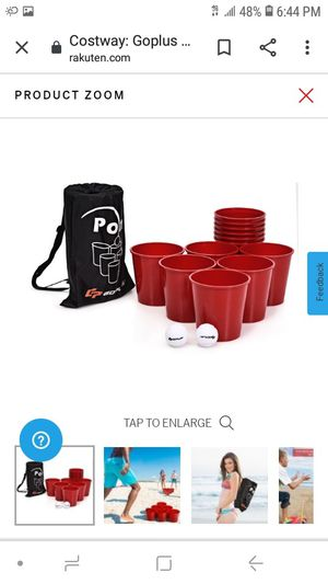 Go plus Yard pong giant pong game set for Sale in Fontana, CA