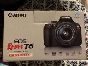 Canon EOS Rebel T6 for Sale in Washington Boro, PA
