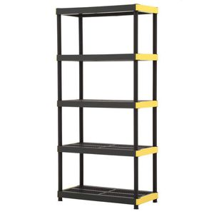 Ventilated Garage Shelving Unit Shelves Storage Space Black Plastic for Sale in Chicago, IL