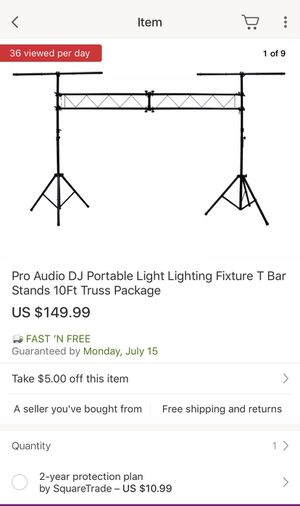Pro Audio Dj T Stand for Sale in Palm Springs, CA