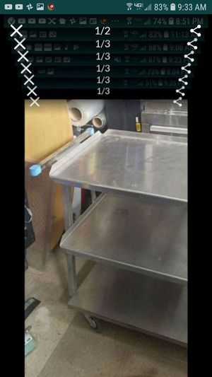 3 tier commercial stainless steel cart great for catering mechanics handyman electricians 19 x27x33 h for Sale in Tracy, CA