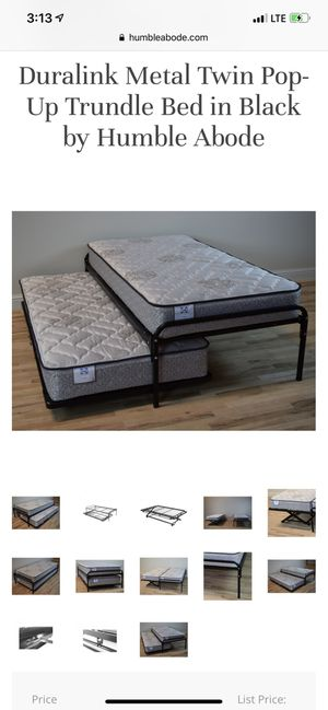 Trundle bed frames and safety strap for Sale in Lorton, VA