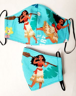 DISNEY MOANA FACE MASK FOR KIDS (2YRS-7YRS) for Sale in Norwalk, CA