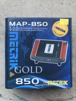 METRIK MAP-850 Gold Amplifier (850 watts) for Sale in San Diego, CA
