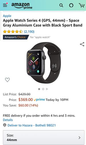 Apple watch 4 GPS 44mm for Sale in Bothell, WA