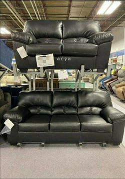 ➡️👇$39 Down Payment👇⬅️Halo Black Sofa & Loveseat | U5192 byGlobal ❗Delivery Time Thursday🚛 for Sale in Philadelphia,  PA