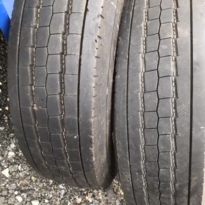 2 Use Goodyear Tires 225/70 R19.5 for Sale in Lumberton, NJ
