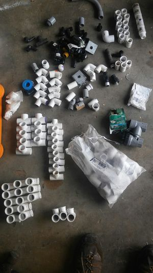Pvc elbows, coupling,tees etc. Over 100 pcs. for Sale in Castro Valley, CA