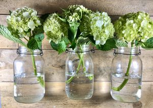 Set of 3 Antique Hanging Mason Jars With Hooks for Sale in Tumwater, WA