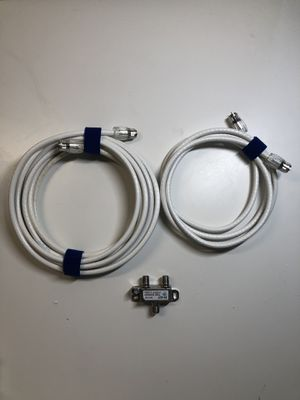 Coaxial cables and splitter for Sale in Los Angeles, CA