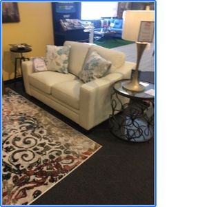 off white leather love seat for Sale in Corpus Christi, TX