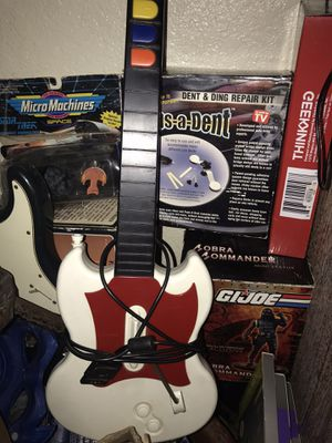 Guitar hero with guitar and five guitar hero games for Sale in City of Industry, CA