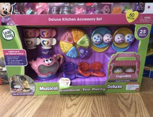 Fisher price , Minnie Mouse kitchen set , Musical Rainbow Tea Party for Sale in Charlotte, NC