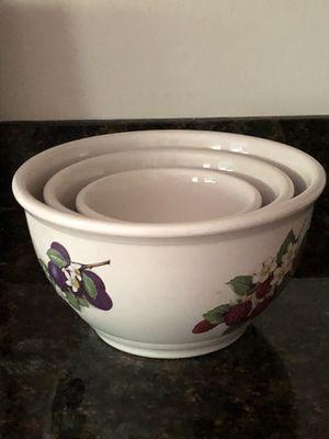 BIA Cordon Bleu 3 Piece Set of Ceramic Bowls for Sale in Auburn, WA