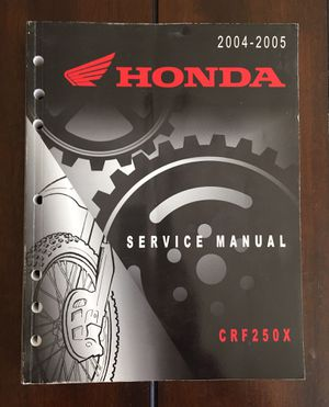 Honda OEM Factory Service Repair Manual - CRF250X Motorcycle - 2004-2005 for Sale in Acton, CA