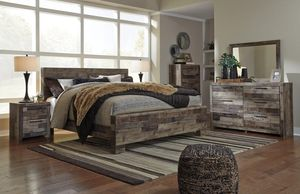 Derekson Gray Footboasard Storage Platform Bedroom Set for Sale in Chantilly, VA