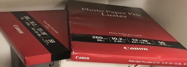 2 set of (Canon Photo Paper Pro Luster LU-101 13x19 50 sheets) : total 100 sheets - Brand New
