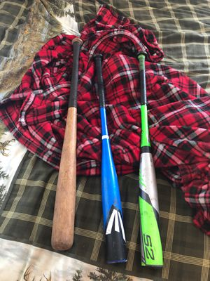 Wood and two medal baseball bats for Sale in East Haddam, CT
