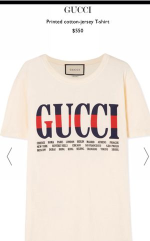 20449d47 Authentic official GUCCI cities t-shirt men's from Nordstrom for Sale in  Salem, OR