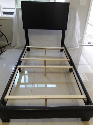 Brand new upholstered brown twin size bed frame for Sale in Aiea, HI