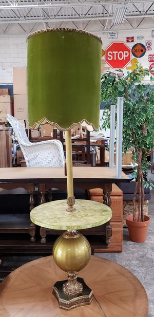 Midcentury Floor Lamp with attached round table for Sale in Park Ridge, IL