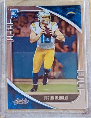 NFL 2020 Panini Absolute Football Los Angeles Chargers Justin Herbert Rookie Card for Sale in North Ridgeville, OH