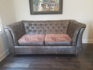 NEED GONE ASAP - MAKE AN OFFER! Great Condition Leather Couch with Covered Cushions for Sale in Atlanta, GA