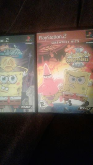 PlayStation ps2 spongesbob games lot for Sale in Spring Valley, CA