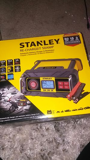 Stanley rechargeit 50 amp automatic battery charger for Sale in Mesa, AZ