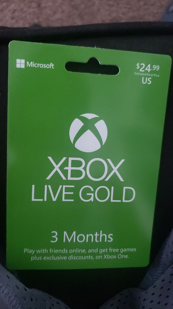 3 Month Xbox Live