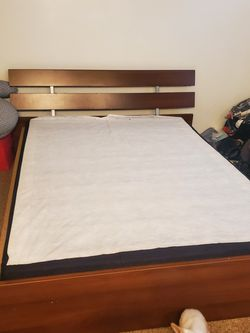 Queen Size Bed Frame Add Mattress Board. Mattress Is Not Included for Sale in Glendora,  CA