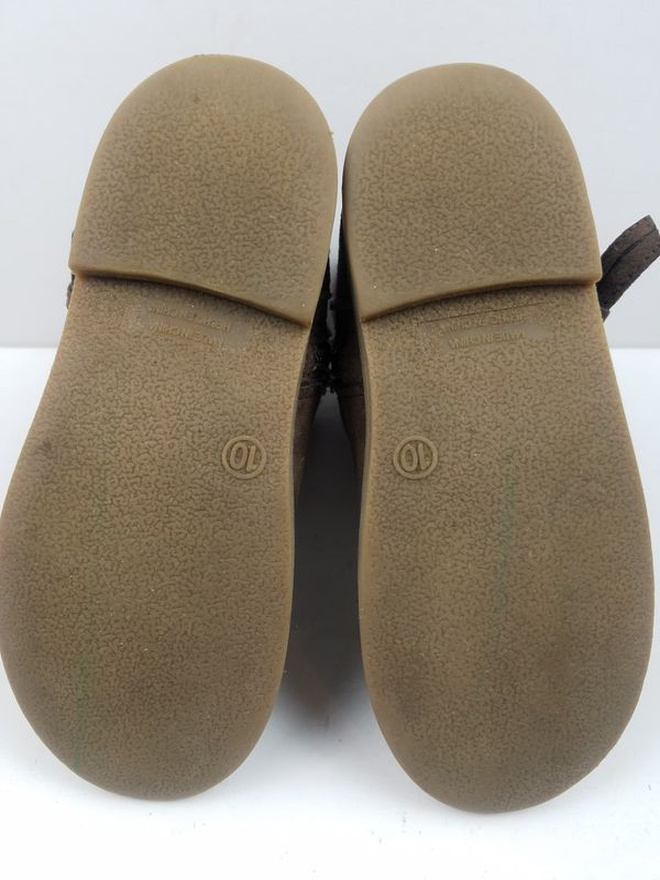 Old Navy Toddler Childrens Kids Youth Girls Buckle Zippered Boots Ankle Booties Brown Size 10