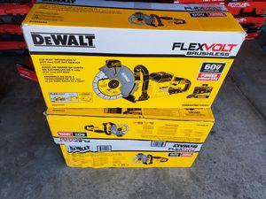 Dewalt 60v cut off saw kits $599 firm EACH PRECIO ES POR CADA UNO for Sale in Las Vegas, NV