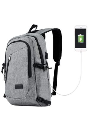 Water Resistant Polyester Laptop Backpack On USB Charging Port for Sale in Queens, NY
