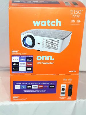 ONN HD PROJECTOR WITH ROKU STREAMING STICK for Sale in Hartford, MI