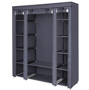 Portable Wardrobe/Closet with Fabric cover & shelves. Easy Assemble & Durable. Used <1 year for Sale in Los Angeles, CA