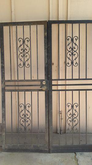 Used heavy duty security doors set for Sale in Glendale, AZ