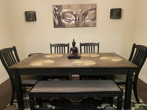 Large bench dining room table with drawers. for Sale in Westminster, CA
