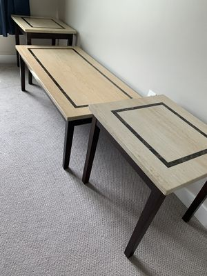 Table Set - Includes Cocktail Table & 2 End Tables for Sale in Braintree, MA
