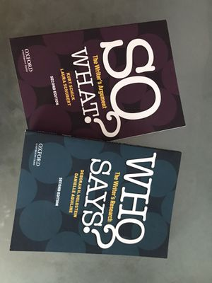 Who says & So what - 2nd Edition for Sale in San Jacinto, CA