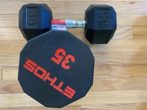Brand new One Ethos, one Weider Dumbbells 35lbs for Sale in Adelphi, MD