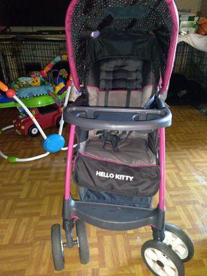 Hello kitty little girl stroller for Sale in Dallas, TX
